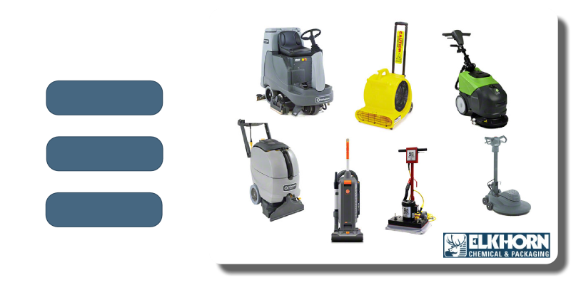 We sell, rent, and repair cleaning equipment.